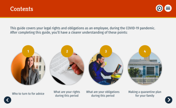 Employee's guide for COVID-19: COVID-19 for employees