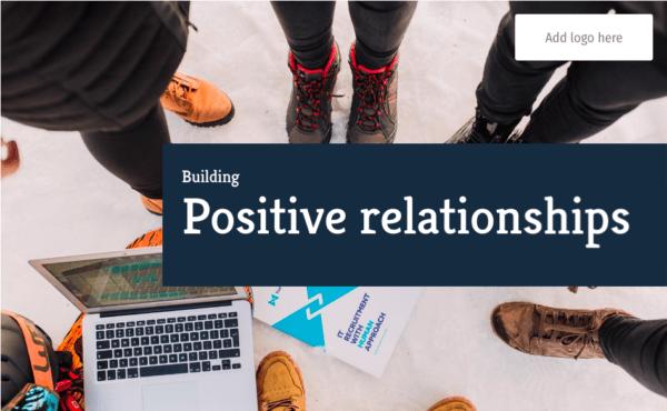 building positive relationships