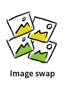 Skillpod tailoring icon for Image swap