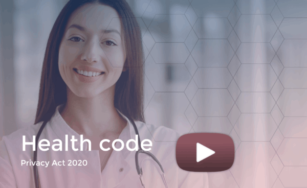Health code smiling lady